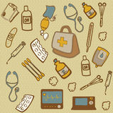Medical icons. Over dotted background vector illustration Stock Photos