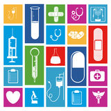 Medical icons. Over white background vector illustration Stock Images