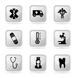 Medical icons Royalty Free Stock Image
