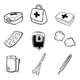 Medical icons. Over white background vector illustration Stock Photos