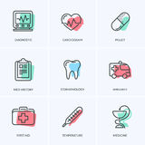 Medical icons pack. Royalty Free Stock Photos