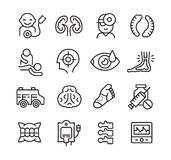 Medical Icons Related to Different Branches of Medicine Royalty Free Stock Photo