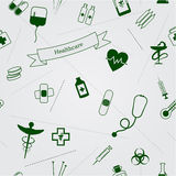 Medical icons seamless background Royalty Free Stock Images