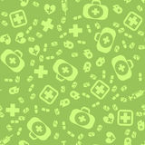 Medical Icons Seamless Pattern Stock Photos