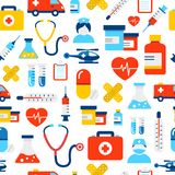 Medical And Healthcare Icons Pattern Royalty Free Stock Photos