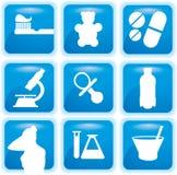Medical  icons set Royalty Free Stock Image