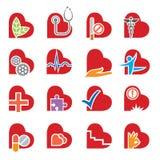 Medical icons set Royalty Free Stock Photos