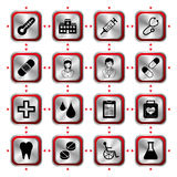 Medical icons set Stock Photography