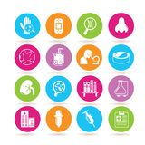 Medical icons. Set of 16 medical icons royalty free illustration