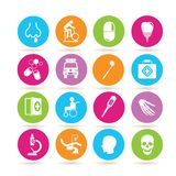 Medical icons. Set of 16 medical icons stock illustration