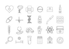 Medical icons set. Set of 24 medical icons Royalty Free Stock Images