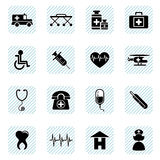 Medical icons set Stock Image