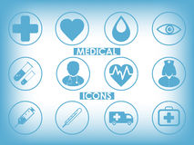 Medical icons set Royalty Free Stock Photography