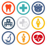 Medical icons set. Medical care and health isolated icons set modern trendy vector illustration Royalty Free Stock Images
