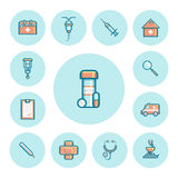 Medical icons set. Medical colored icons set. Vector illustration EPS10 Royalty Free Stock Photography
