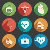 Medical icons, vector. Set of colorful medical icons, vector Stock Image