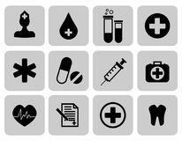 Medical icons set. First aid symbol. Vector illustration. EPS 10 Royalty Free Stock Photos