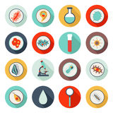 16 medical icons. Set of flat medical pathogen icons royalty free illustration