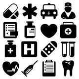 Medical icons set great for any use. Vector EPS10. Royalty Free Stock Photos