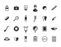 Medical Icons Set. Health and hospital symbols Stock Image