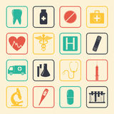 Medical icons set. Healthcare icons. Vector Stock Images