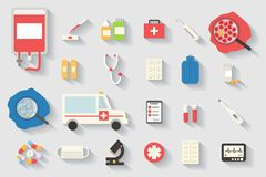 Medical  icons set. Healthcare infographic elements. Royalty Free Stock Photos