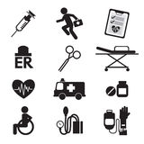 Medical icons. Set 12 Medical icons Illustration Stock Photo