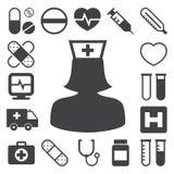 Medical icons set, . Illustration Royalty Free Stock Photo