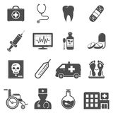 Medical icons set Stock Photos