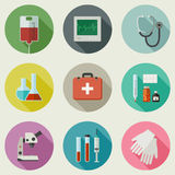 Medical icons set. Stock Photography