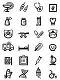 Medical icons stock illustration