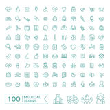 100 medical icons set Royalty Free Stock Images
