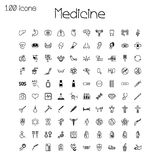 Medical icons. Set of 100 pieces. Royalty Free Stock Image