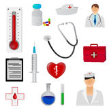 Medical icons. Set of medical icons tools and symbols Stock Photography