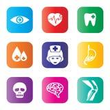 Medical icons set Royalty Free Stock Photo