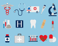 Medical icons set. Vector. Medical icons set. Healthcare icons. Vector illustration Royalty Free Stock Photo