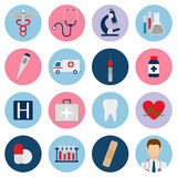 Medical icons set. Vector. Medical icons set. Healthcare icons. Vector illustration Stock Photography