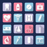 Medical icons set. Vector. Medical icons set. Healthcare icons. Vector illustration Stock Photos
