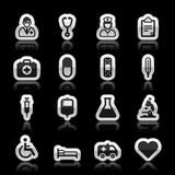 Medical icons. Set, vector illustration Stock Image