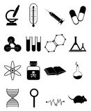 Medical Icons Set. Vector illustration of various medical science icons set on white background Stock Photos