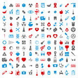Medical icons set, vector set of 144 medical signs. Medical icons set, vector set of 144 medical and medicine signs Royalty Free Stock Image