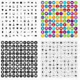 100 medical icons set vector variant. 100 medical icons set vector in 4 variant for any web design isolated on white Stock Photography