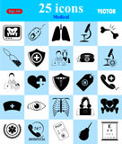 Medical icons set for web and mobile Stock Photo