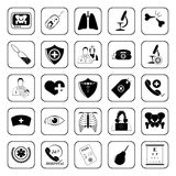 Medical icons set for web and mobile Stock Images