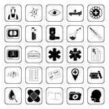 Medical icons set for web and mobile Stock Photography