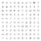 Medical icons set on white background Stock Images