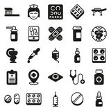 Medical icons set on white background. Created For Mobile, Web, Decor, Print Products, Applications. Vector illustration Stock Illustration