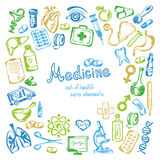 Medical icons set on a white background Royalty Free Stock Photography