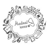 Medical icons set on a white background Stock Photo