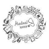Medical icons set on a white background Stock Image